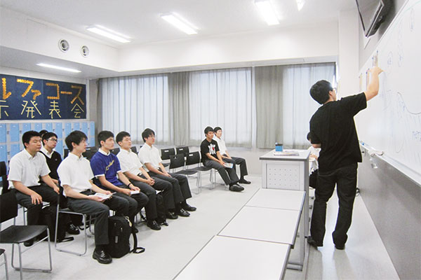 文化祭で行った生徒による模擬授業